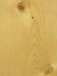 Pine is commonly used in furniture because it's easy to shape and stain.