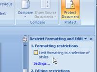 ara protect dokumen microsoft word 2007 daripada diubah dan disunting