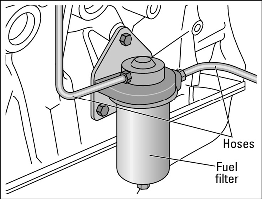 A diesel fuel filter.