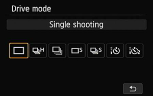 You can access all these Drive options only in advanced exposure modes.
