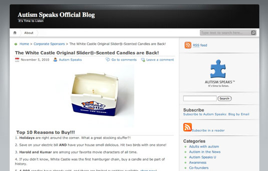 White Castle's hamburger and onion-scented candle was a hit with customers and raised $50,000