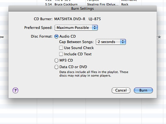 iTunes lets you know when the recording is complete.