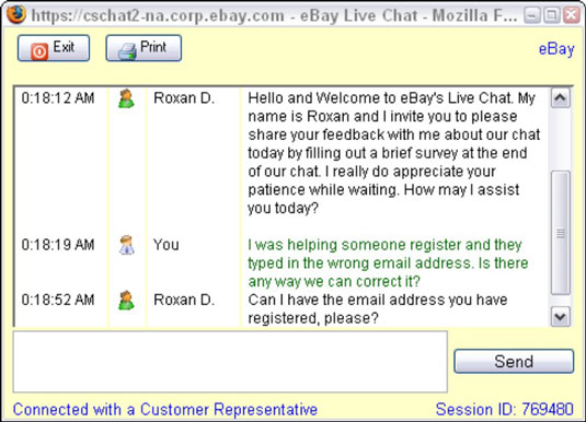 Within minutes of clicking Live Help, you can be online with a real person.