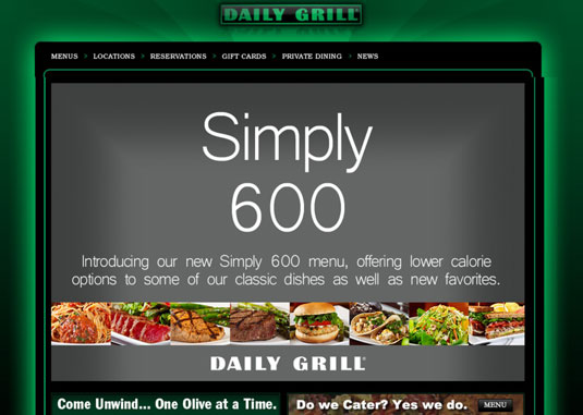 The Daily Grill in Los Angeles stresses healthy eating.