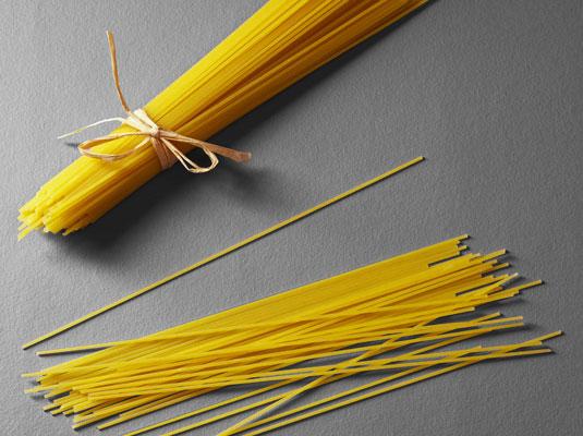 Strand pasta, aka spaghetti.  [Credit: Corbis Digital Stock]