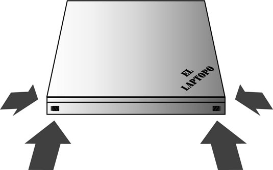 Possible locations for the lid latch(es).