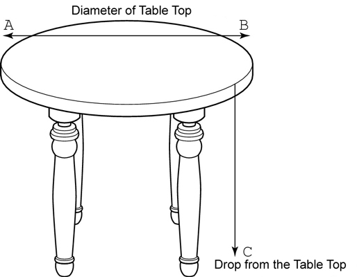 Measure the round table.