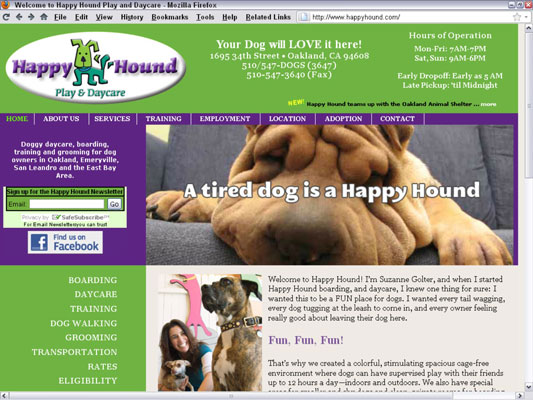 The Happy Hound Play & Daycare in Oakland, California, has run a successful AdWords campaign si