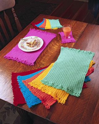 Knitworks - Knit wares crochet placemat pattern
