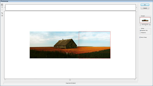 Combine multiple images into a single panorama with Photomerge. [Credit: PhotoSpin]
