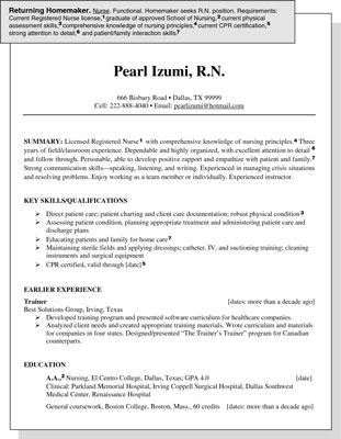 sample resume skills. This resume sample is intended
