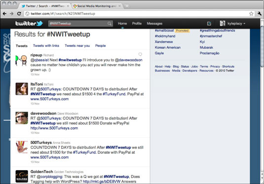 Live tweets related to the Northwest Indiana Tweetup #NWITweetup.