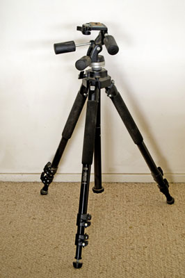 A good, quality tripod will run about $100 to $300.