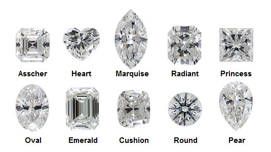 Diamond shapes (not to be confused with the cut).