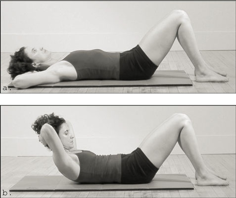 Using a mat for upper abdominal curls. [Credit: Photograph by David Herman and Jordan Levy]
