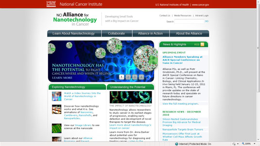 The National Cancer Institute Alliance for Nanotechnology in Cancer.