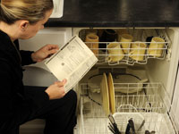 The manufacturer knows how to stack the dishwasher efficiently, so take that advice.
