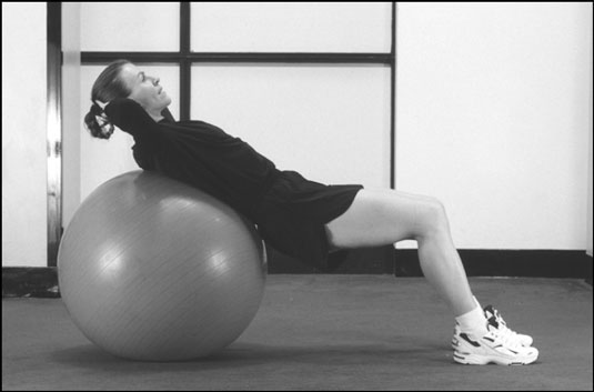 You can perform the basic-crunch movement on a physioball as an alternative to the traditional exer