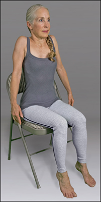 <b>Figure </b><b>3</b><b>:</b> Seated shoulder rolls.