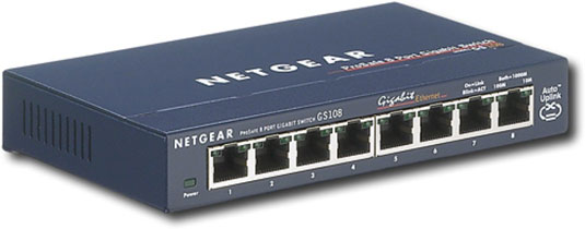 A NetGear Ethernet switch.