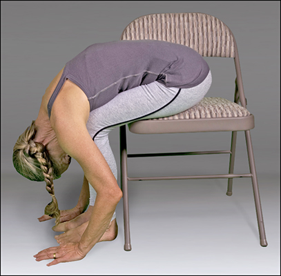 <b>Figure </b><b>8</b><b>:</b> Seated forward bend variation.
