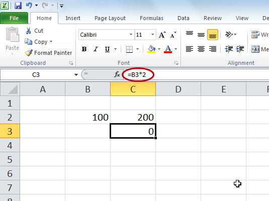 Relative references adjust when you copy a formula.