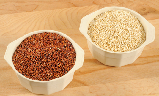 Red and white quinoa are actually seeds, not grain. [Credit: <i>&#169;PapaBear</i><i> 2011</i>]