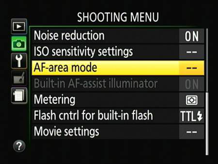 You also can change the setting via this Shooting menu option.
