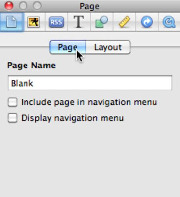 Turn the navigation menu on or off.