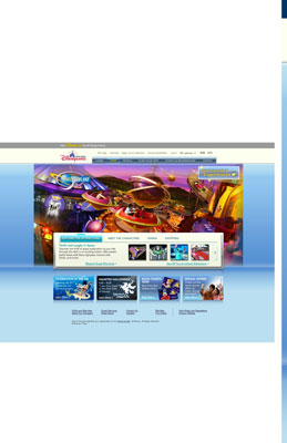 A thin, decorative background tile repeats across the Hong Kong Disneyland website, ending in a col