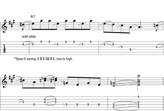 A slide lick in open E.