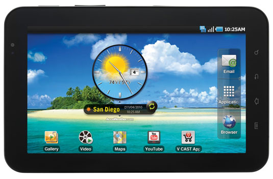 The Samsung Galaxy Tab Android tablet. [Credit: Image furnished by Samsung]