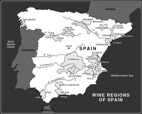 The wine regions of Spain. [Credit: © Akira Chiwaki]