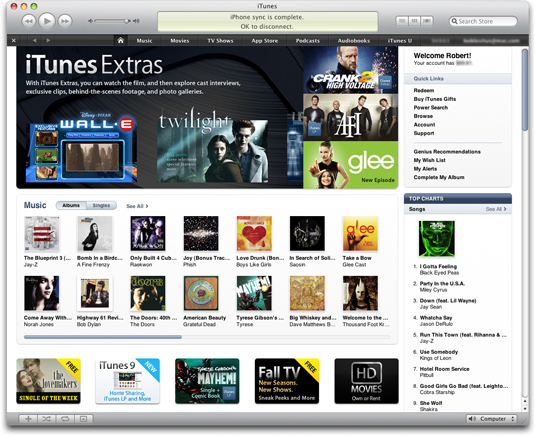 The iTunes Store received a makeover in iTunes 9.
