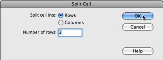 Split cells as easily as you merge them.