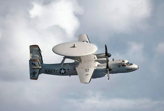 E-2 Hawkeye (U.S. Navy). [Credit: Photograph courtesy of <a href=