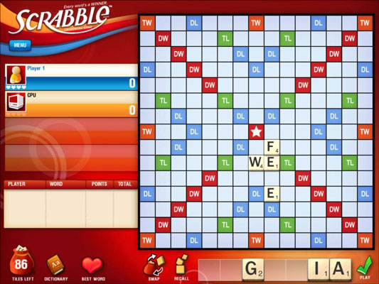 Figure 8-2: SCRABBLE is awesome on iPad.