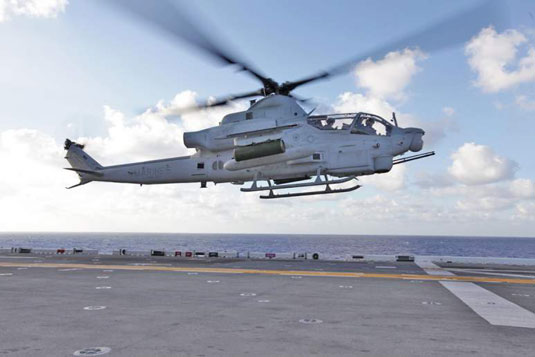 AH-1 Cobra (U.S. Marine Corps). [Credit: Photograph courtesy of www.navy.mil]