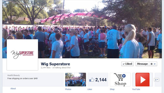 Wig Superstore's Facebook page.