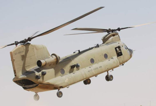 CH-47 Chinook (U.S. Army). [Credit: Photograph courtesy of <a href=