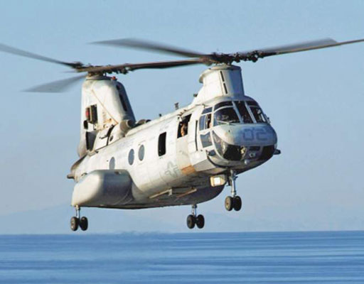CH-46 Sea Knight (U.S. Navy). [Credit: Photograph courtesy of www.navy.mil]