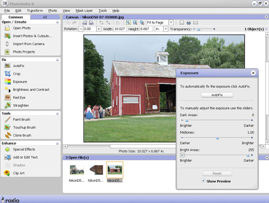 If you're new to image editing, PhotoSuite guides you through the process.
