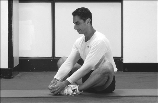 The butterfly stretch targets your inner thighs, groin, hips, and lower back. [Credit: Photograph b