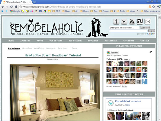 The Remodelaholic home improvement blog attracts women and moms.