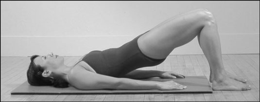 The Bridge position in Pilates.