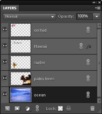 The Layers panel controls layers in your image.