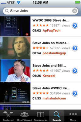 Find Steve Jobs on YouTube.