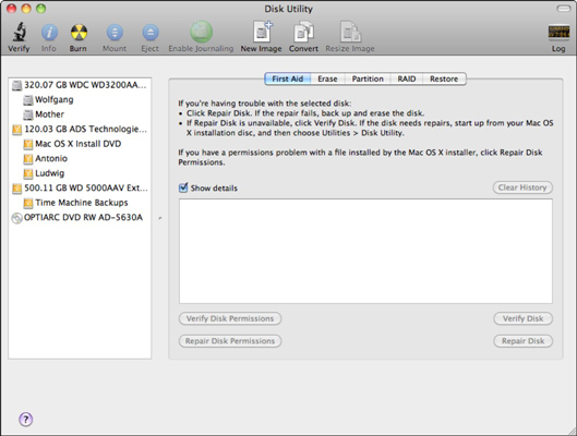 View the contents of your volumes with Snow Leopard's Disk Utility.
