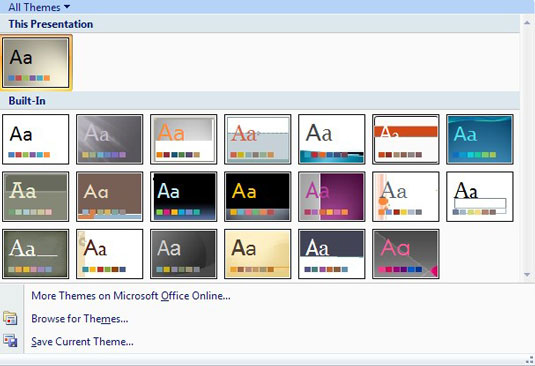 Get links to more free PowerPoint themes in the Theme Gallery.