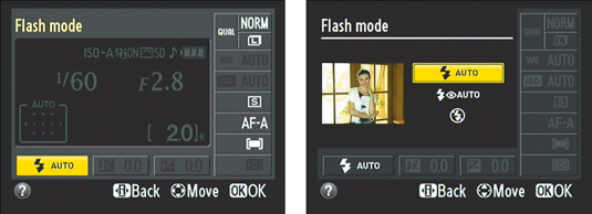 You also can change the Flash mode by using Info Edit screen.